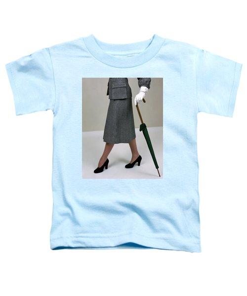A Model Holding An Umbrella Toddler T-Shirt