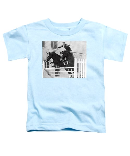 A Stunt Rider On Two Horses. Toddler T-Shirt