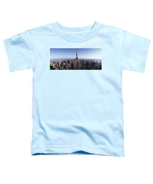 Aerial View Of A Cityscape, Empire Toddler T-Shirt by Panoramic Images