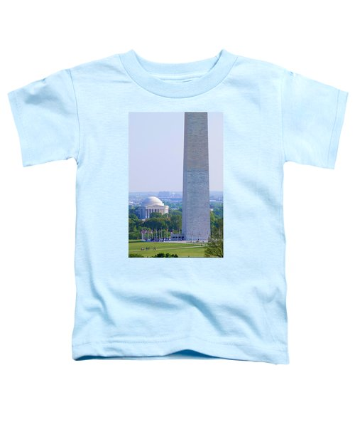Aerial View Of Washington Monument Toddler T-Shirt