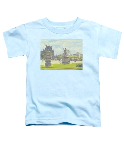 Afternoon In The Tuileries, Paris Oil On Canvas Toddler T-Shirt