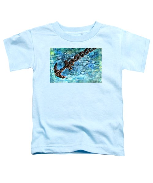 Anchor Under Water Alcohol Inks Toddler T-Shirt