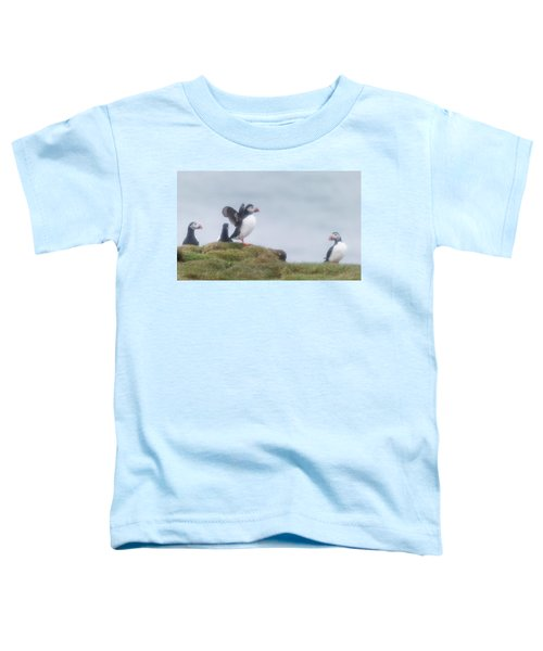 Atlantic Puffins Fratercula Arctica Toddler T-Shirt