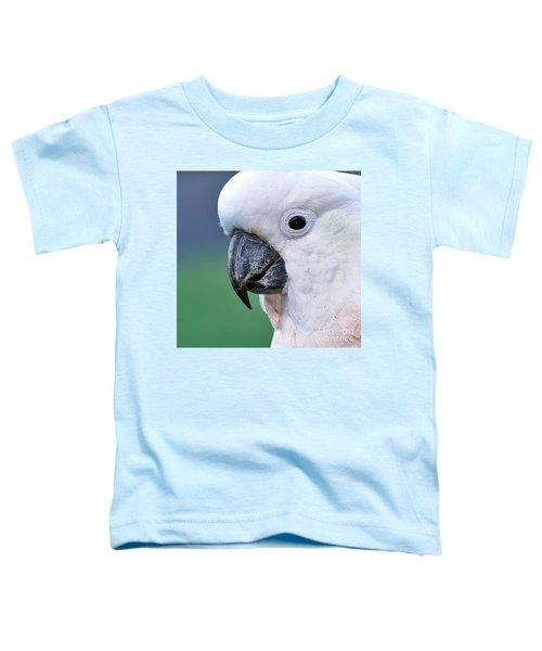 Australian Birds - Cockatoo Up Close Toddler T-Shirt by Kaye Menner
