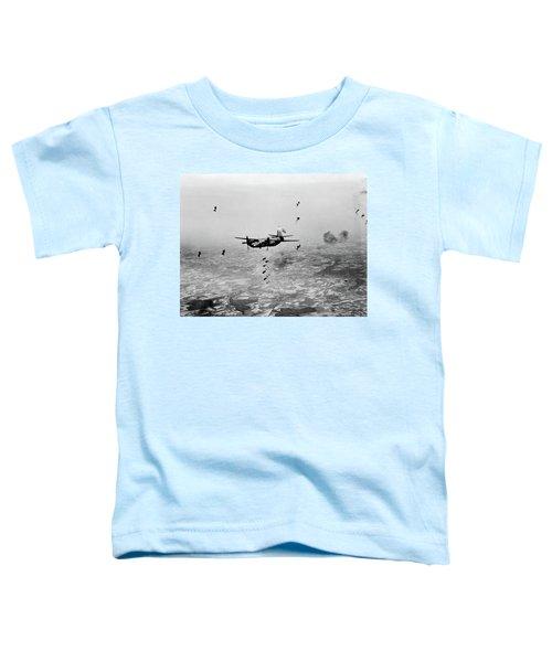 B-26 Martin Marauder Aircraft Dropping Toddler T-Shirt