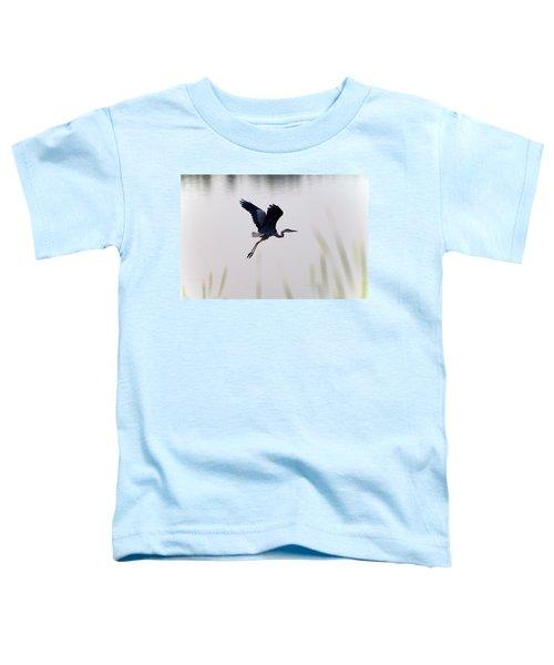 Back Lit Great Blue Heron Ardea Toddler T-Shirt