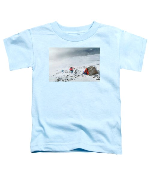 Backcountry Ski Tour To The Highest Toddler T-Shirt
