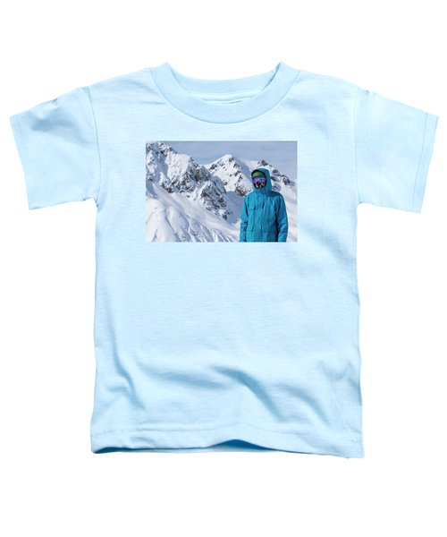 Backcountry Snowboarder Portrait Toddler T-Shirt