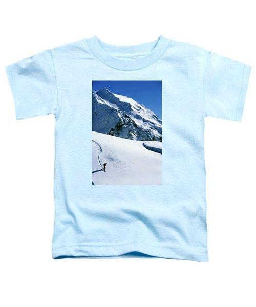 Backcountry Snowboarding Near Mt Toddler T-Shirt