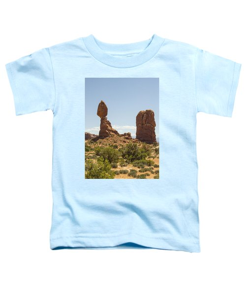 Balancing Rock In Arches Toddler T-Shirt