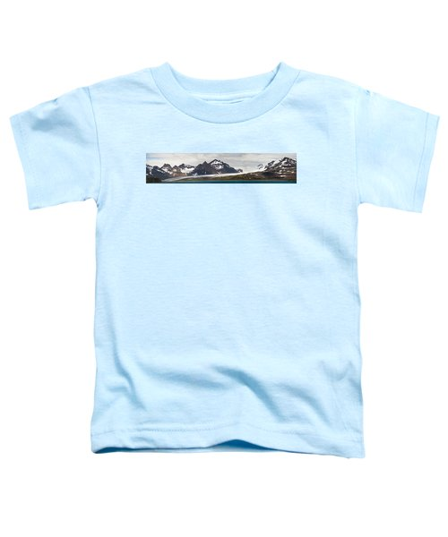 Bay In Front Of Snow Covered Mountains Toddler T-Shirt