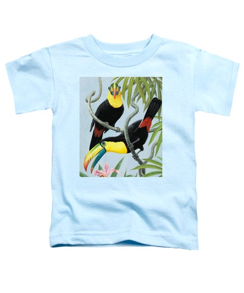 Big-beaked Birds Toddler T-Shirt by RB Davis