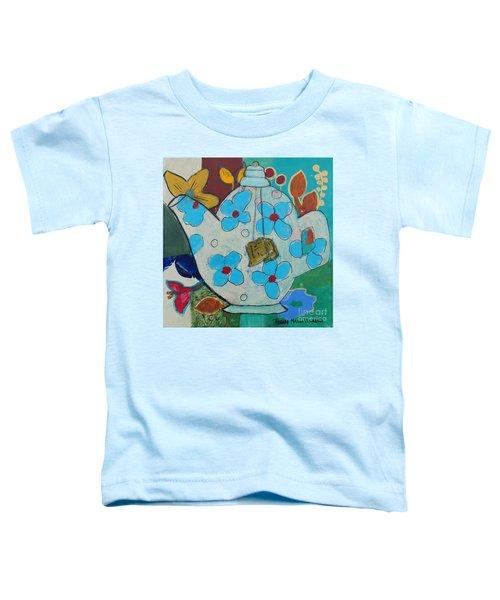 Big Floral Tea Pot Toddler T-Shirt