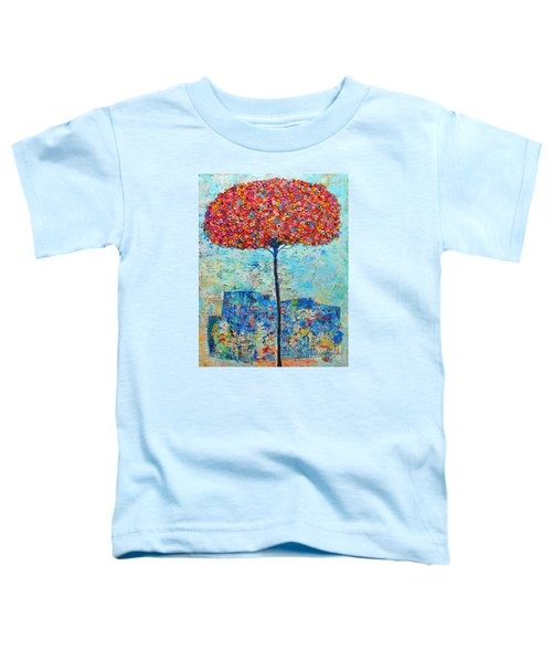 Blooming Beyond Known Skies - The Tree Of Life - Abstract Contemporary Original Oil Painting Toddler T-Shirt