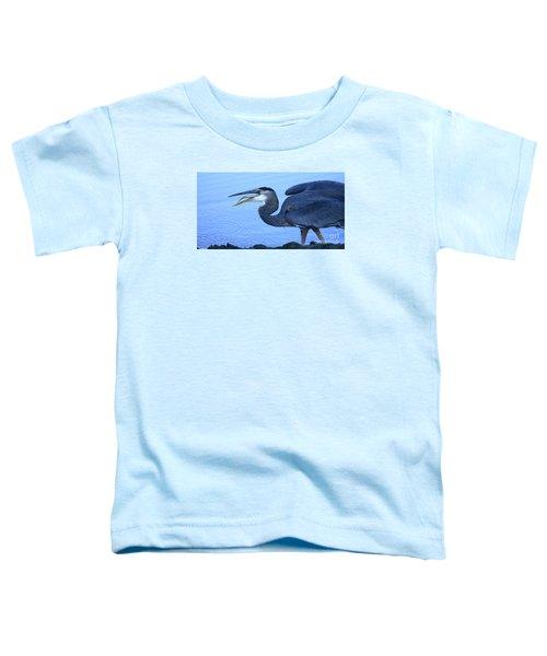 Blue Heron Gulp Toddler T-Shirt