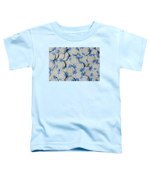 Blue Poker Chip Background Toddler T-Shirt