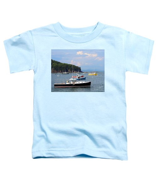 Boats In Bar Harbor Toddler T-Shirt