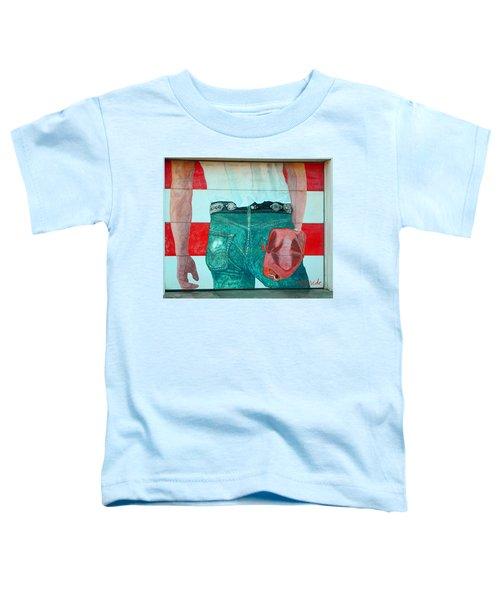 Born In The Usa Urban Garage Door Mural Toddler T-Shirt