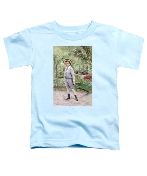 Boy With A Wheelbarrow Toddler T-Shirt