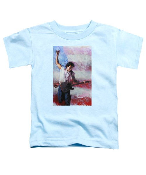 Bruce Springsteen The Boss Toddler T-Shirt by Viola El