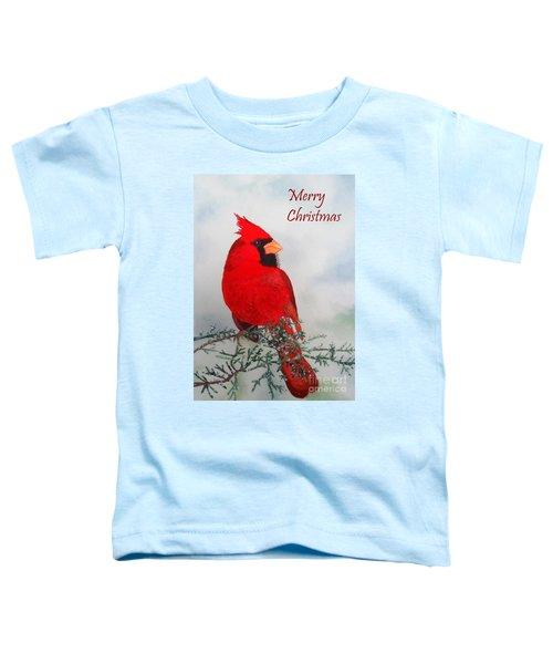 Cardinal Merry Christmas Toddler T-Shirt
