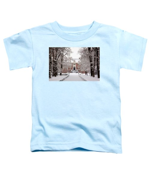 Castle In Winter Dress  Toddler T-Shirt