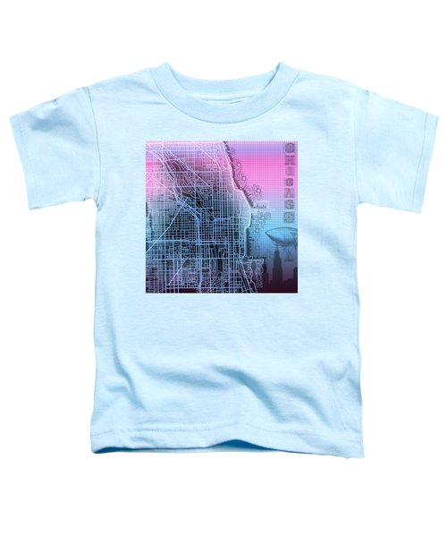 Chicago Map Gradient 2 Toddler T-Shirt