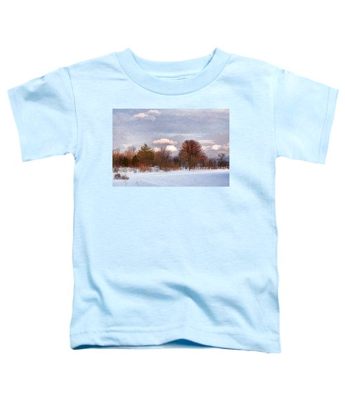 Colorful Winter Morning On The Lake Toddler T-Shirt