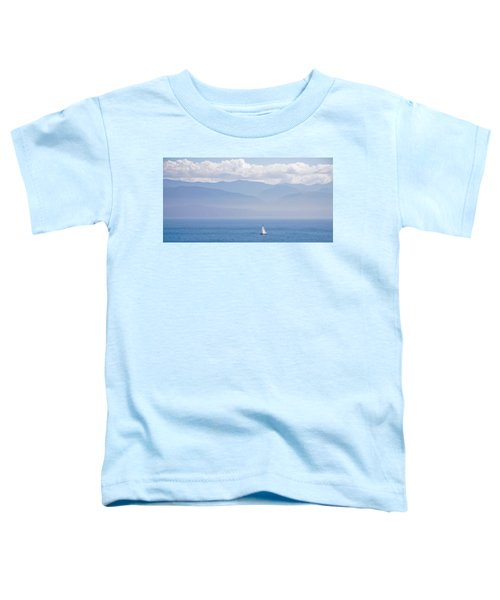 Colors Of Alaska - Sailboat And Blue Toddler T-Shirt