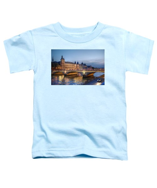 Conciergerie And Pont Napoleon At Twilight Toddler T-Shirt