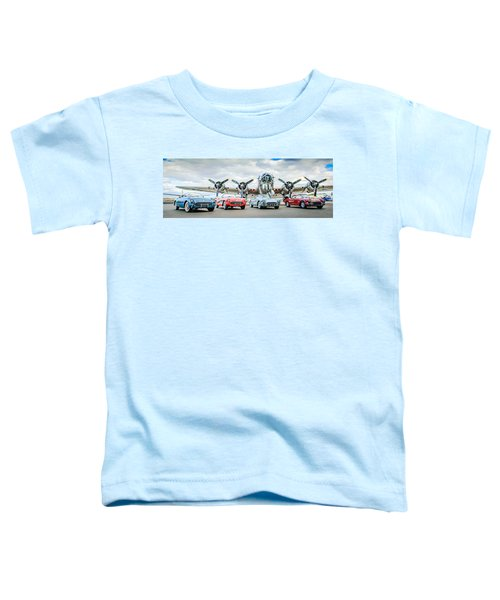 Corvettes With B17 Bomber Toddler T-Shirt