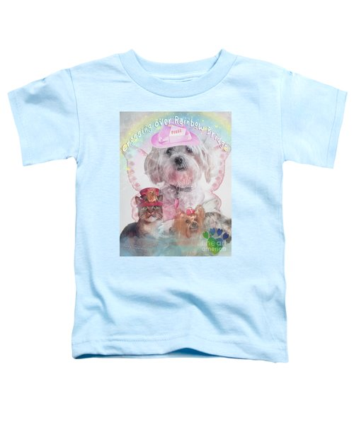 Crossing Over Rainbow Bridge Toddler T-Shirt