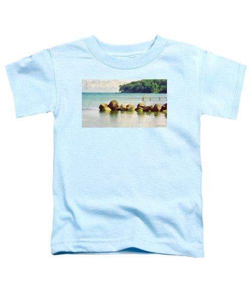 Danish Coast On The Rocks Toddler T-Shirt