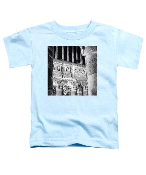 Details Of Carvings In Ajanta Caves Toddler T-Shirt
