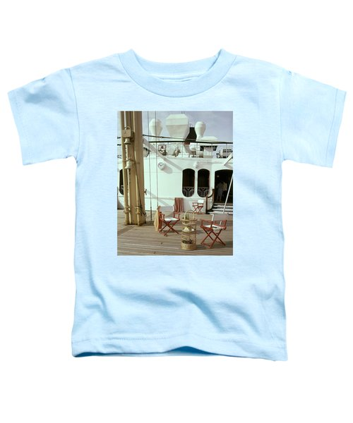 Directors Chairs In Front Of The Ship The Queen Toddler T-Shirt