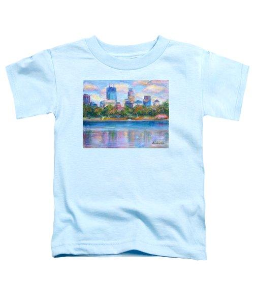 Downtown Minneapolis Skyline From Lake Calhoun Toddler T-Shirt