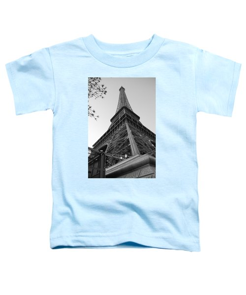 Eiffel Tower In Black And White Toddler T-Shirt