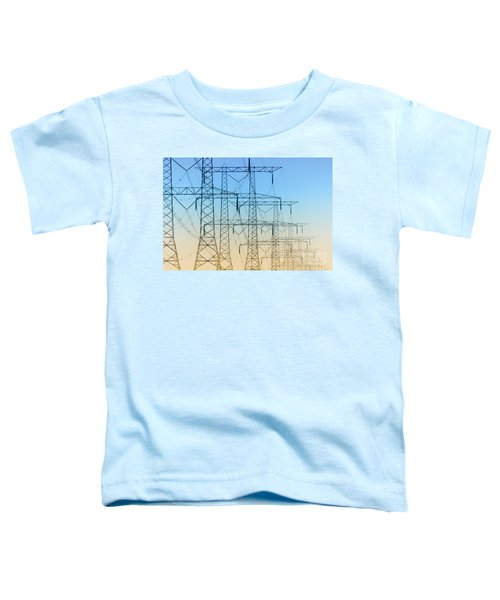 Electricity Pylons Standing In A Row Toddler T-Shirt