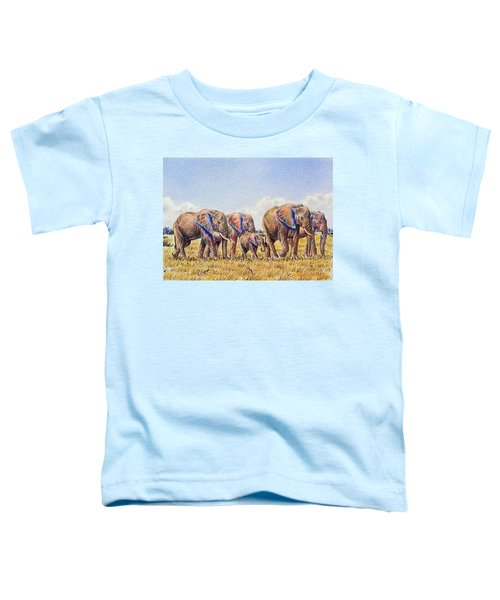 Elephants Walking Toddler T-Shirt