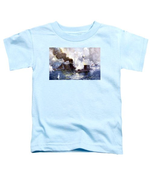 Engagement Between The Confederate Ironclad Merrimac Also Called Virginia And Monitor Toddler T-Shirt