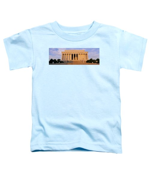 Facade Of A Memorial Building, Lincoln Toddler T-Shirt by Panoramic Images