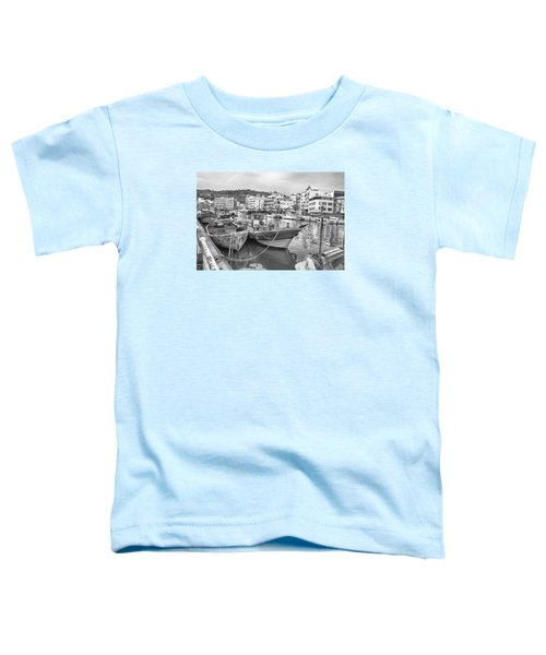 Fishing Boats B W Toddler T-Shirt