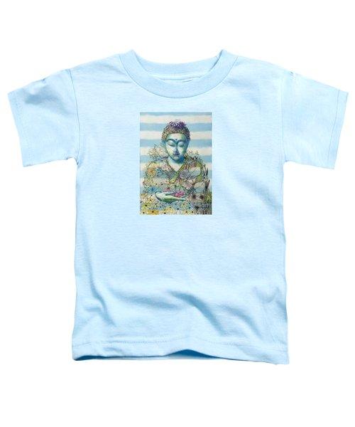 Flower Garden Buddha Toddler T-Shirt