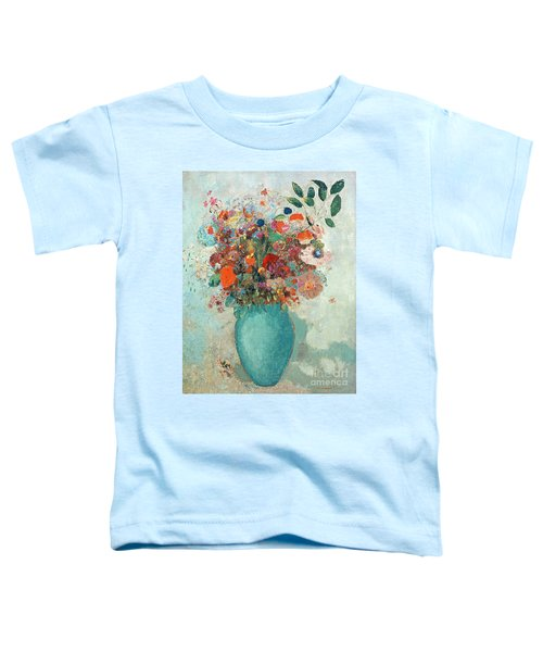 Flowers In A Turquoise Vase Toddler T-Shirt