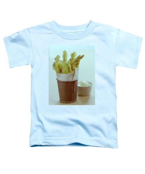 Fried Asparagus Toddler T-Shirt by Romulo Yanes
