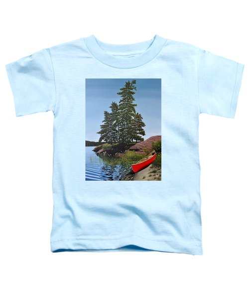 Georgian Bay Beached Canoe Toddler T-Shirt