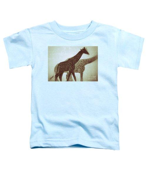 Giraffes In The Mist Toddler T-Shirt