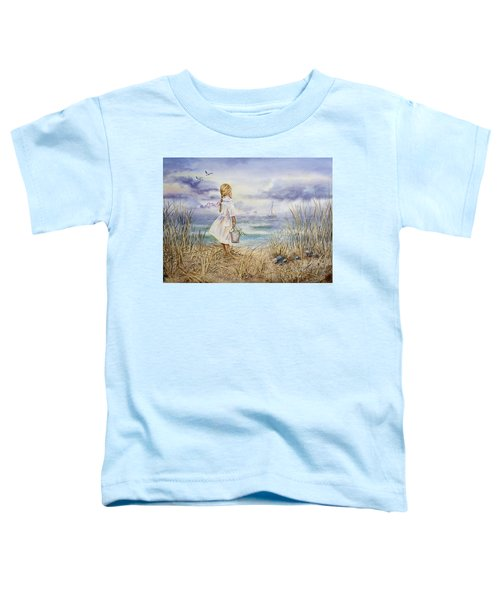 Girl At The Ocean Toddler T-Shirt