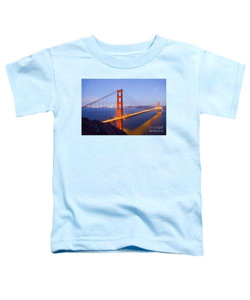 Golden Gate Bridge At Dusk Toddler T-Shirt