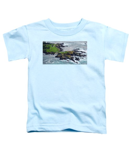 Golf Course On An Island, Pebble Beach Toddler T-Shirt